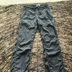 LULULEMON grey  LINED studio pants size 2TALL